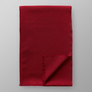 Eton Burgundy Merino Wool Scarf